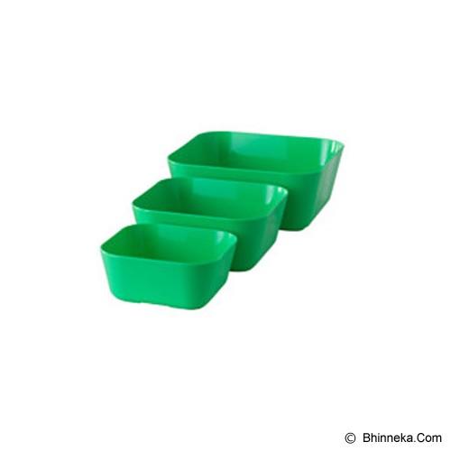 IKEA PRODUCTS Sommar 2015 Serving Bowl Set Of 3 [002.587.83] - Green (V) - Mangkuk / Mangkok / Bowl